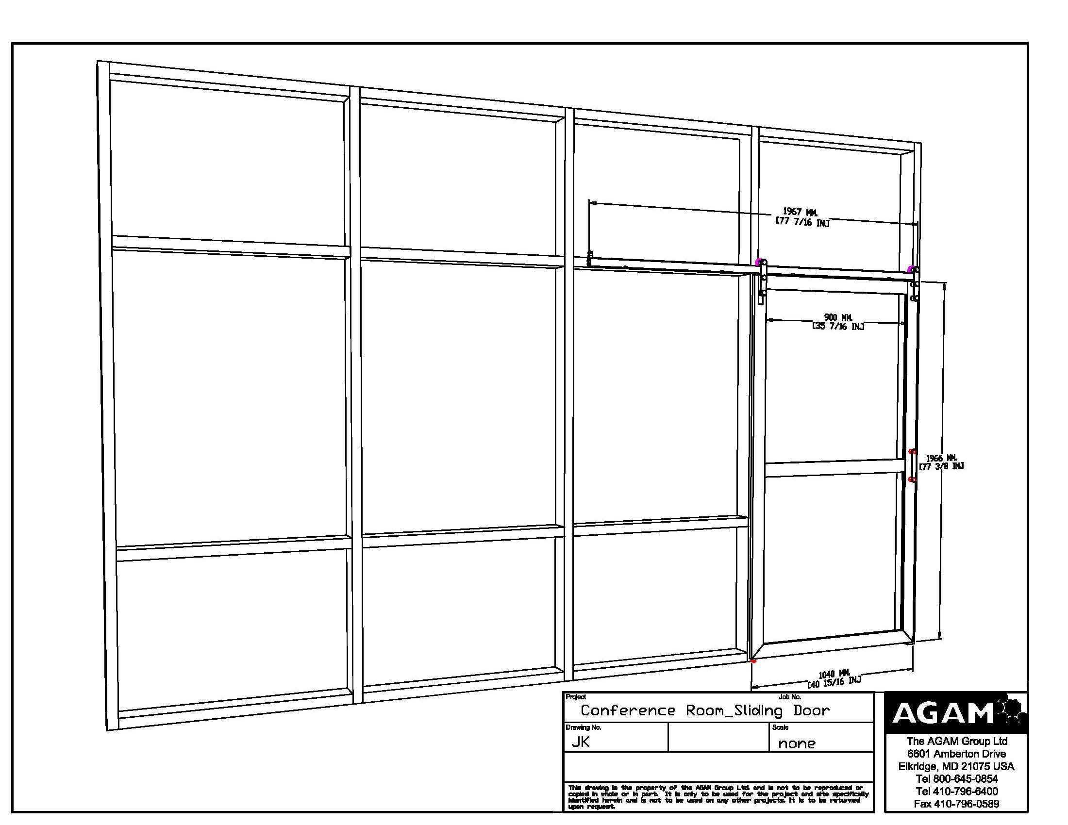 Conference room design idea with agam system sliding for Sliding glass doors autocad