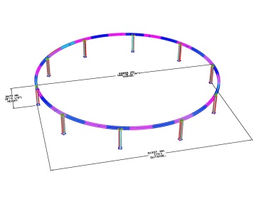 Custom Seventy-Foot Diameter Truss Ring for AGAM Client