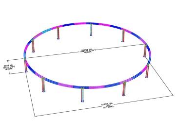 Custom Seventy-Foot Diameter Truss Ring for AGAM Client